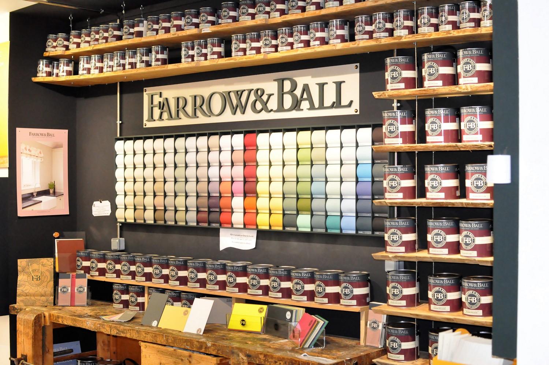 mur farrow & ball couleurs et pots de peinture